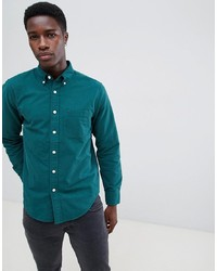 Camisa de vestir en verde azulado de Abercrombie & Fitch