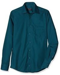 Camisa de vestir en verde azulado de Casamoda