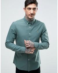 Camisa de vestir en verde azulado de Farah
