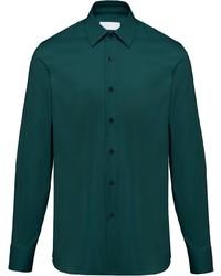 Camisa de vestir en verde azulado de Prada
