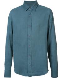 Camisa de vestir en verde azulado de The Elder Statesman