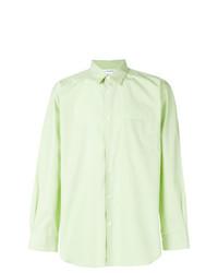 Camisa de vestir en verde menta de Comme Des Garcons SHIRT