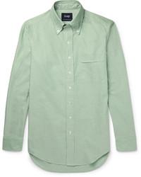 Camisa de Vestir en Verde Menta de Drakes