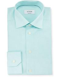 Camisa de Vestir en Verde Menta de Eton