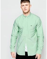 Camisa de Vestir en Verde Menta de Lacoste