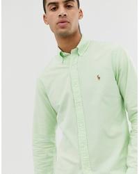 Camisa de vestir en verde menta de Polo Ralph Lauren