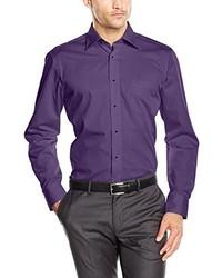 Camisa de vestir en violeta de Casamoda