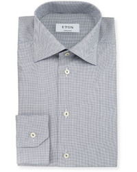 Camisa de vestir estampada azul