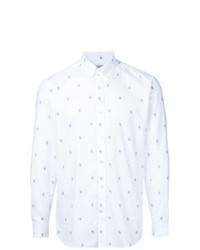 Camisa de Vestir Estampada Blanca de Gieves & Hawkes