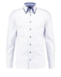 Camisa de Vestir Estampada Blanca de Olymp