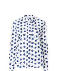 Camisa de vestir estampada blanca de P.A.R.O.S.H.