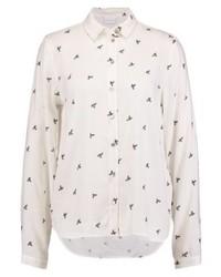 Camisa de Vestir Estampada Blanca de Vila
