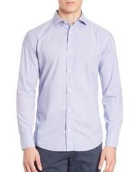 Camisa de vestir estampada celeste
