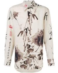 Camisa de vestir estampada en beige de Vivienne Westwood