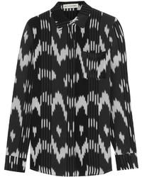 Camisa de vestir estampada en negro y blanco