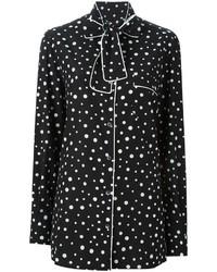 Camisa de vestir estampada en negro y blanco de Dolce & Gabbana