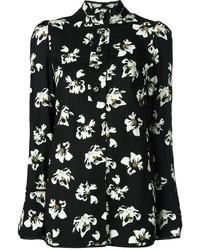 Camisa de vestir estampada en negro y blanco de Proenza Schouler