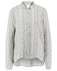 Camisa de vestir estampada gris de mbyM