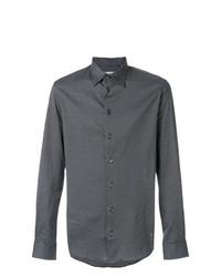 Camisa de vestir estampada negra de Armani Collezioni