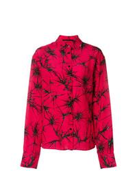 Camisa de vestir estampada roja de Haider Ackermann
