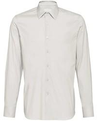 Camisa de vestir gris de Prada