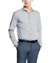 Camisa de vestir gris de Purple Label by Benvenuto