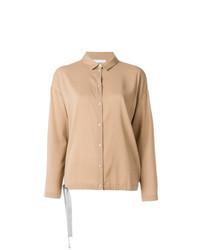 Camisa de vestir marrón claro