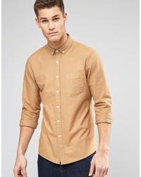 Camisa de vestir marrón claro de Asos
