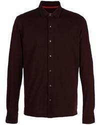 Camisa de vestir morado oscuro de Isaia