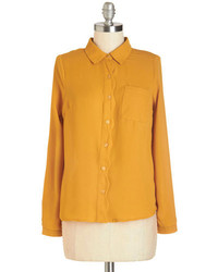 Camisa de vestir mostaza original 4286915