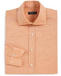 Camisa de Vestir Naranja