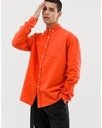 Camisa de vestir naranja de Collusion