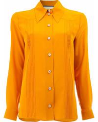 Camisa de vestir naranja de Gucci