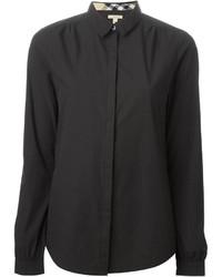Camisa de Vestir Negra de Burberry