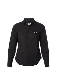 Camisa de Vestir Negra de Comme Des Garcons Play