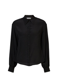 Camisa de Vestir Negra de Rockins