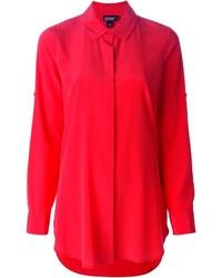 Camisa de vestir roja de DKNY