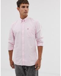Camisa de vestir rosada de Tommy Jeans
