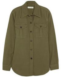 Camisa de vestir verde oliva de Etoile Isabel Marant