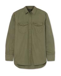 Camisa de vestir verde oliva de J.Crew