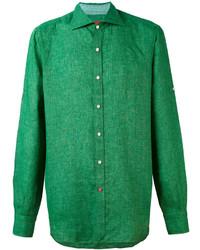 Camisa de vestir verde de Isaia