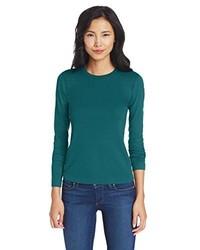 Camisa en verde azulado