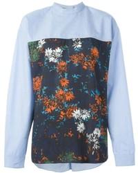 Camisa estampada celeste de Cédric Charlier