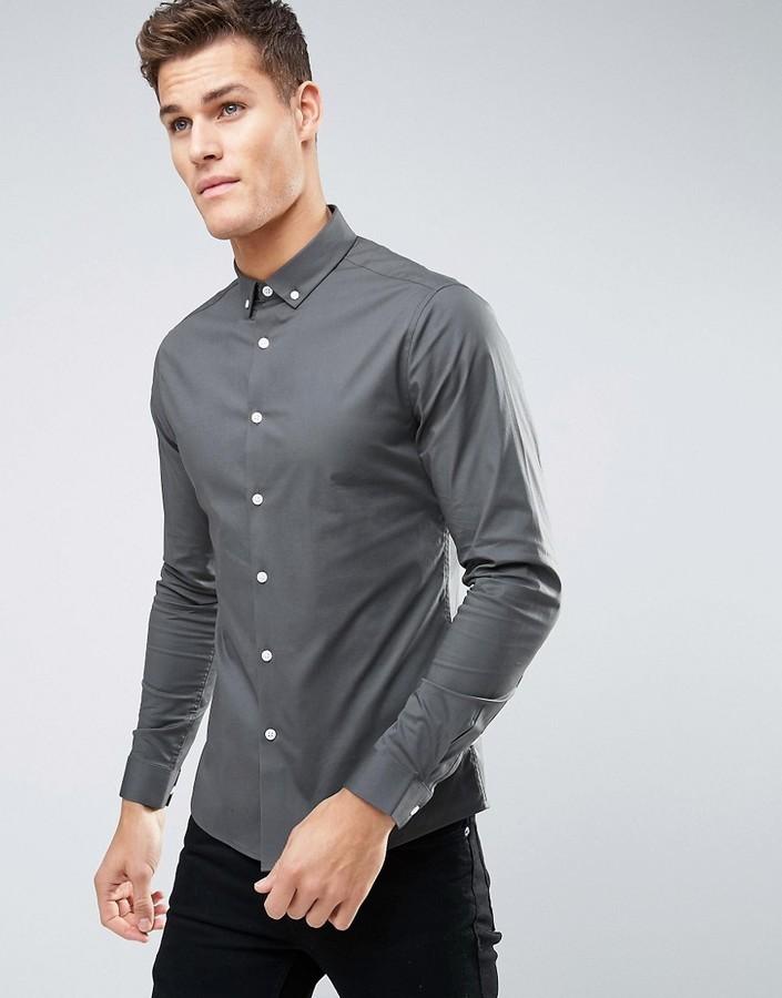 72981ed14 ... Camisa gris de Asos ...