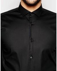 ... Camisa negra de Hugo Boss ... be458debe35de