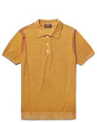 Camisa polo amarilla de Tod's