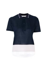 Camisa Polo Azul Marino y Blanca de Golden Goose Deluxe Brand