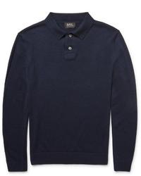 Camisa polo azul marino de A.P.C.