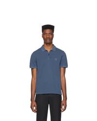 Camisa polo azul marino de BOSS