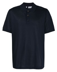 Camisa polo azul marino de Brioni